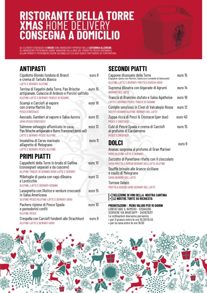 Possibilità di prenotare per le feste natalizie anche singoli piatti, alcuni di essi saranno comunque estrapolati dai vari menù proposti